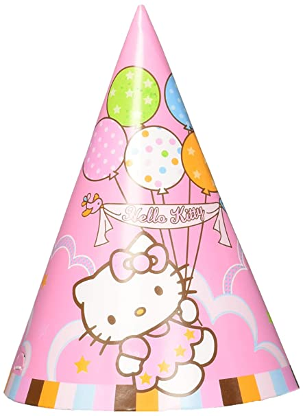 8dd009da6 Image Unavailable. Image not available for. Color: amscan Party Hats | Hello  Kitty ...