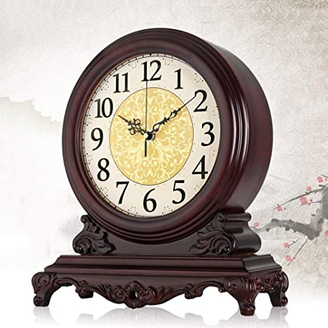 LNDDP Reloj Mesa Escritorio, Relojes Chimenea clásicos Relojes ...