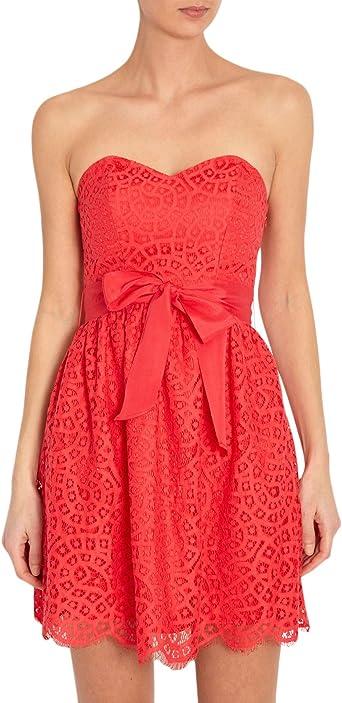 Morgan Robe Bustier Uni Femme Rouge Rouge Coquelicot 38 Amazon Fr Vetements Et Accessoires