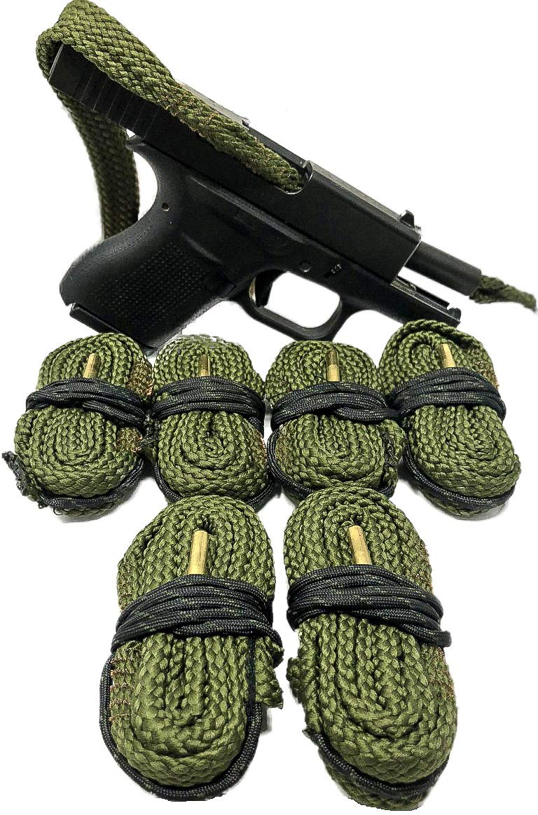 Cobra 9MM Pistol Bore Snake 6 Pack - Also Cleans The Barrel On .357.38 and .380 Caliber Handguns - from Bore Snakes by Cobra