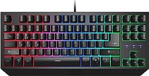 Afranker Gaming Keyboard, Mechanical Feeling Computer Keyboard