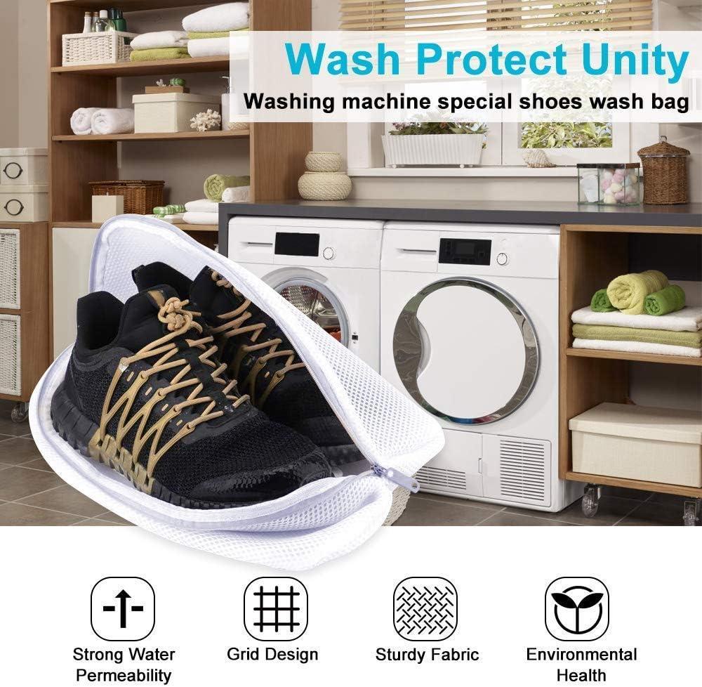 EMAGEREN 3pcs Bolsas para Lavar Zapatos, Saco Lavadora para ...