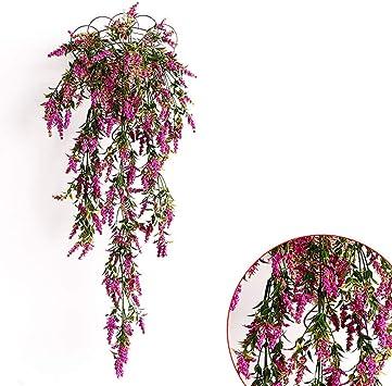 Flores artificiales Vid hojas de hiedra Guirnalda Plantas ...