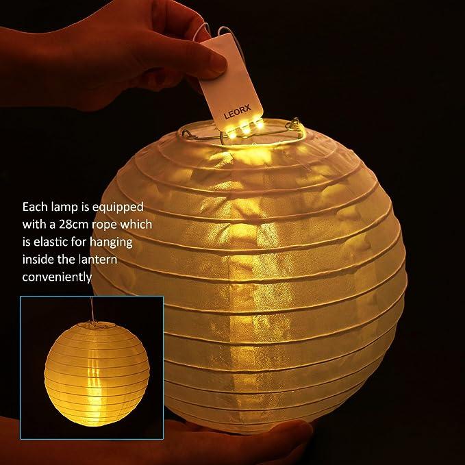 F/ête LIHAO 30PCS LED Ballons Lampes Lumineuses Blanc Chaud pour Lanterne Papier D/écoration Mariage