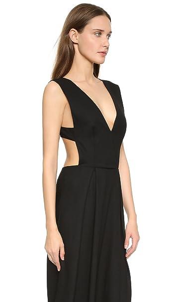 338e9f5d0e9 Olcay Gulsen Deep V Crepe Jumpsuit XS Black at Amazon Women s Clothing  store