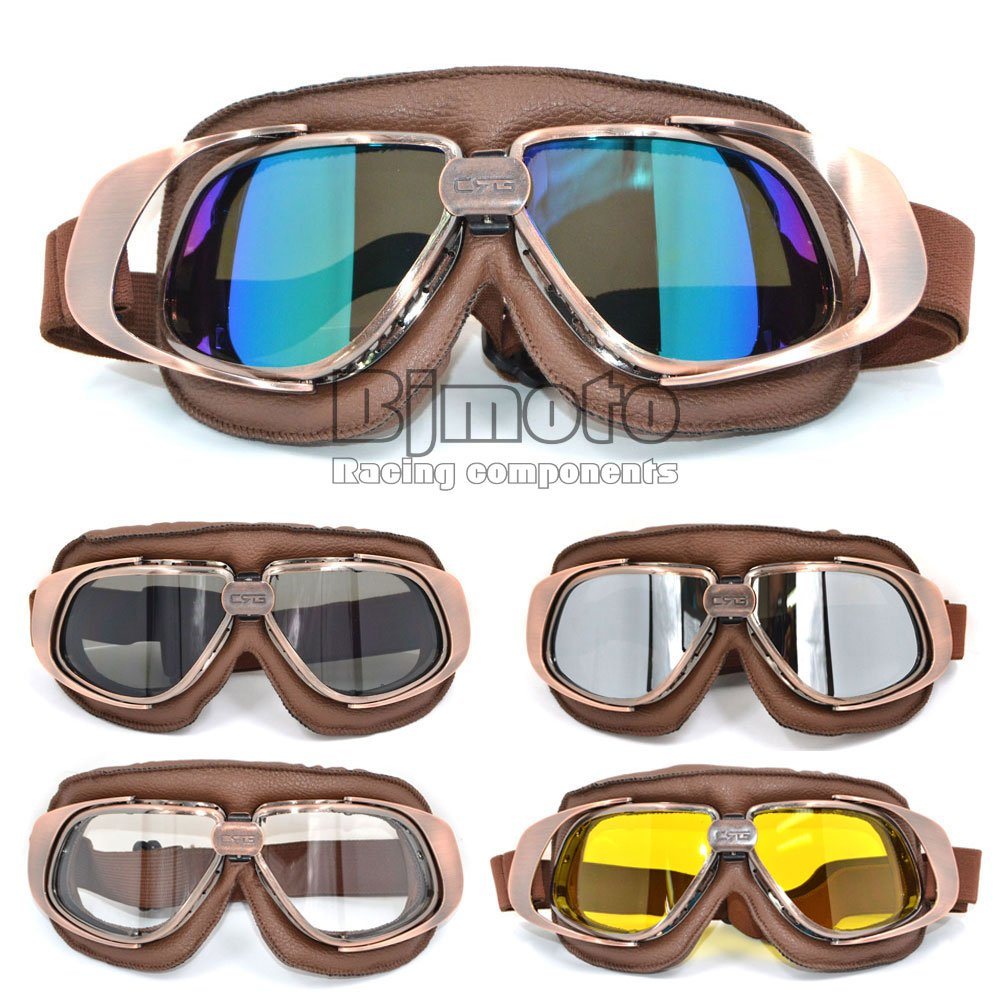 Lunettes de protection de style aviateur pour 2 roues ou sports de glisse ou extr/ême En similicuir CRG