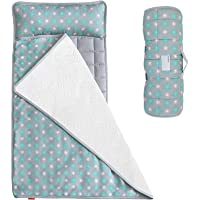 Nap Mat for Toddlers, Kids Nap Mat with Removable Pillow and Fleece Minky Blanket, Lightweight and Soft Perfect for Kids…