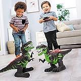Temi 8 Channels 2.4G Remote Control Dinosaur for Kids Boys Girls, Electronic RC Toys Educational Walking Tyrannosaurus…