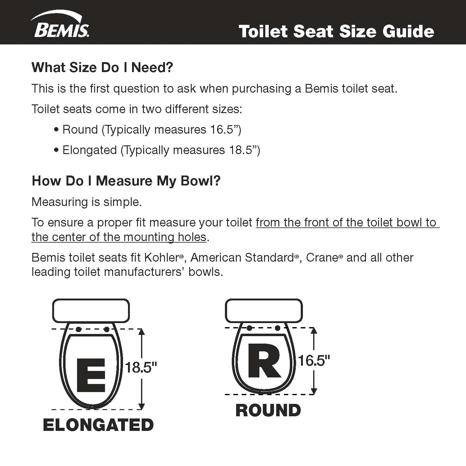 Bemis MA2155T 000 Medic-Aid Plastic Open Front Toilet Seat with Safety Side Arms, Elongated, White