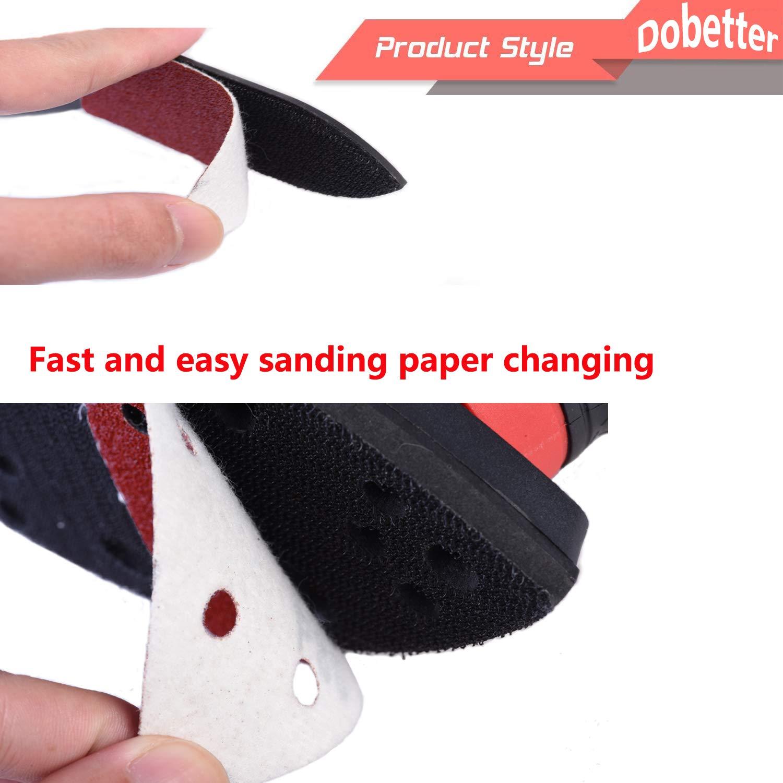 6 Variable Speed Detail Polisher Electric Sander for Home Decoration and DIY Dobetter 5 Random Orbit Sander with 6Pcs Sandpaper RS125//2.8A//13000 OPM