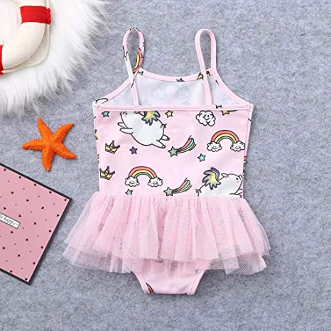 d4f518cc79 Amazon.com: Kids Baby Girls Cartoon Pig Print Summer Swimwear Swimsuit Vest  Romper Jumpsuits: Clothing