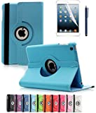 Apple iPad 2/3/4 Case, CINEYO(TM) 360 Degree Rotating Stand Case Cover with Auto Sleep / Wake Feature for iPad 2/3/4(10 Colors)this case is for Apple iPad 2 3 4 (Light Blue)