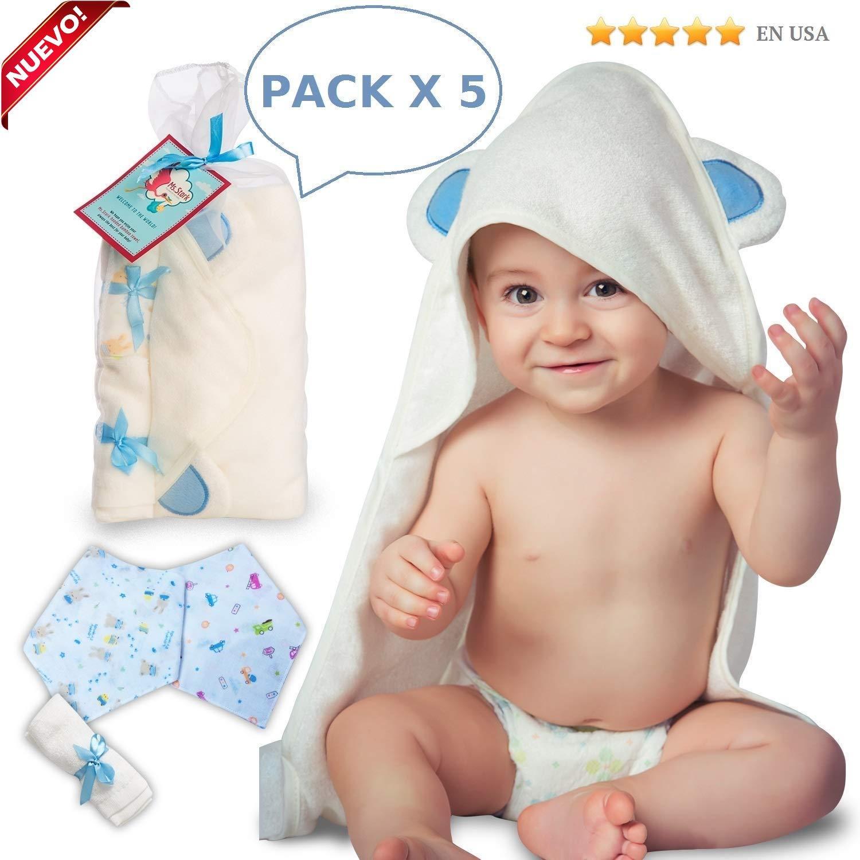 Toalla de bebé con capucha de bambú con toallita y dos baberos de regalo   Orgánico, antibacteriano e hipoalergénico   Capa de baño extremadamente suave y altamente absorbente   Ideal para recién nacidos y niños pequeños Storky