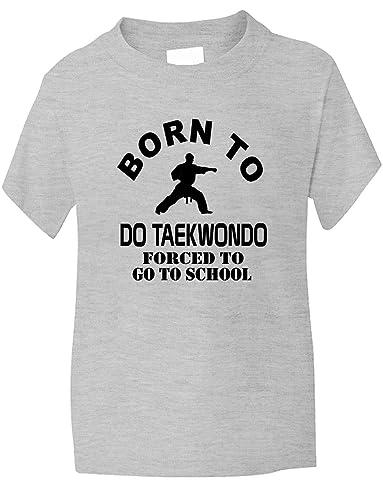 Print4U Born to Do Taekwondo Forced to Go to School Kids Hoodie Age 1-13 Years