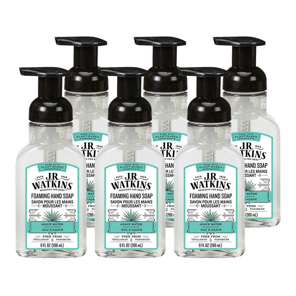 Amazon Com J R Watkins Foaming Hand Soap Agave Water 6 Pack