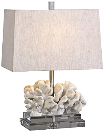 Amazon uttermost taupe ivory coral table lamp garden outdoor uttermost taupe ivory coral table lamp aloadofball Images