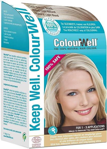 ColourWell 100 % color natural (rubio claro natural).: Amazon ...