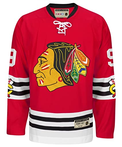 finest selection 5d254 8efdf Amazon.com : adidas Bobby Hull Chicago Blackhawks CCM Heroes ...