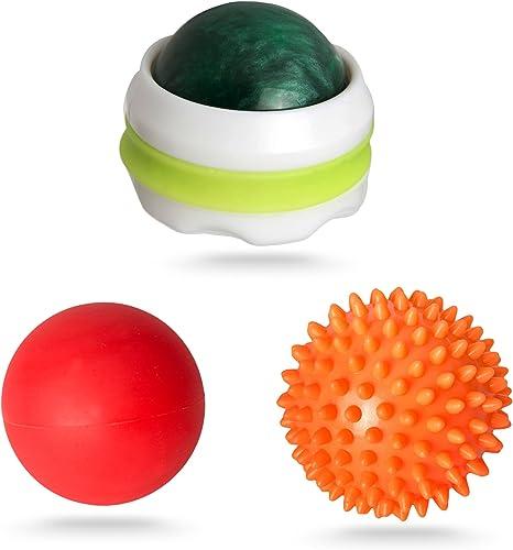 Bola de masaje de punto de presión Set. 3 rodillos de masaje para ...