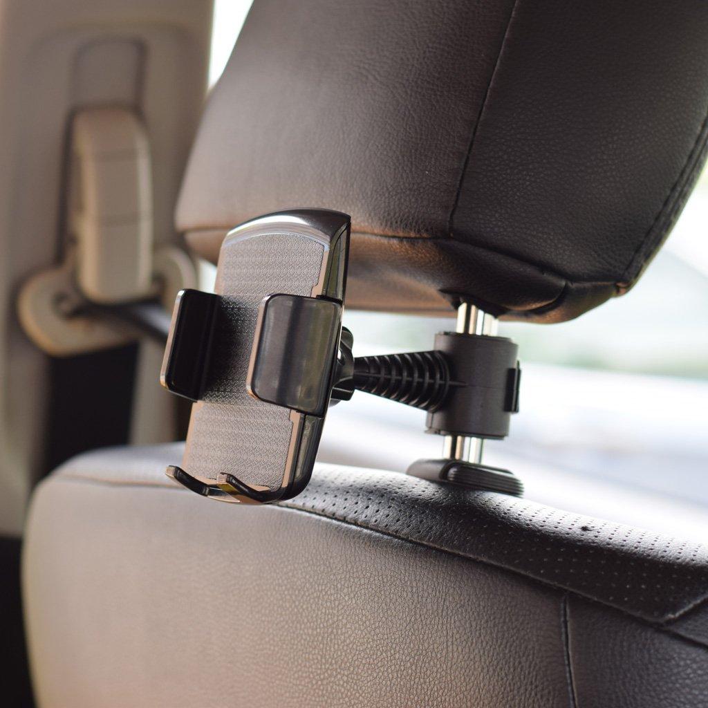 Exing Tablet Kopfst/ützenhalter,360˚ Drehen Auto R/ücksitz Kopfst/ütze Halterung St/änder Halter f/ür 5-100mm Telefon Tablet