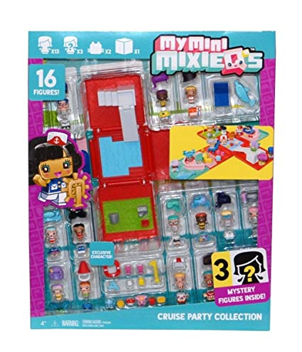 Amazon Com My Mini Mixieq S Cruise Party Collection With 16 Figures