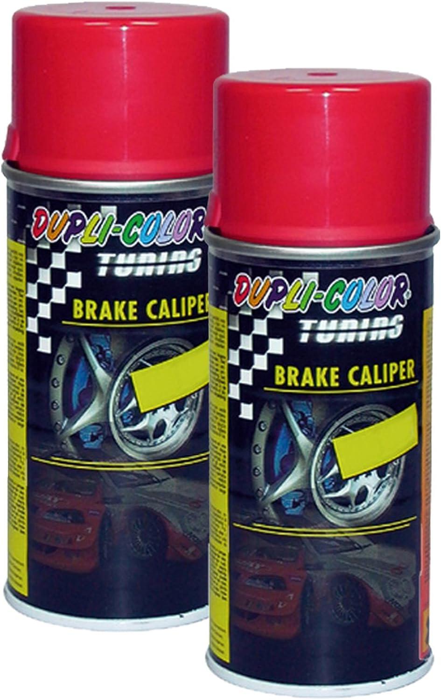 2x Dupli Color Brake Calipper Spray Red Bremssattellack Spray Rot Effektlack 150 Auto