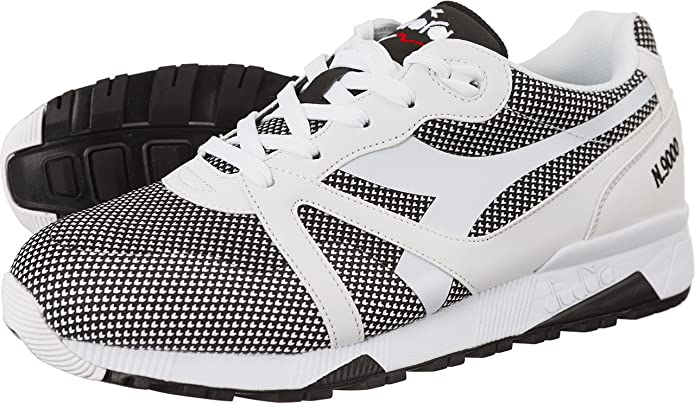 Unisex Adults N9000 Arrowhead Sneaker Low Neck, Opt. White/Black Diadora
