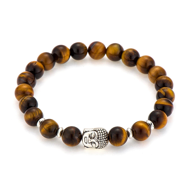 Amazon.com: POSHFEEL Yoga Mala Beads Stretch Bracelet 8mm ...