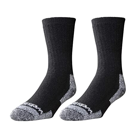 fe8663f4e Wells Lamont Men's Wool Crew Socks, Shoe Sizes 13 to 15, 2 Pair Pack  (9331XLN)