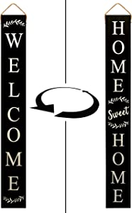Tall Outdoor Welcome Sign for Porch - 2 Sided 5 ft Vertical Welcome Sign for Front Porch, Modern Farmhouse Decor for The Home, Front Porch Decor Farmhouse, Wooden Welcome Sign for Front Porch Decor