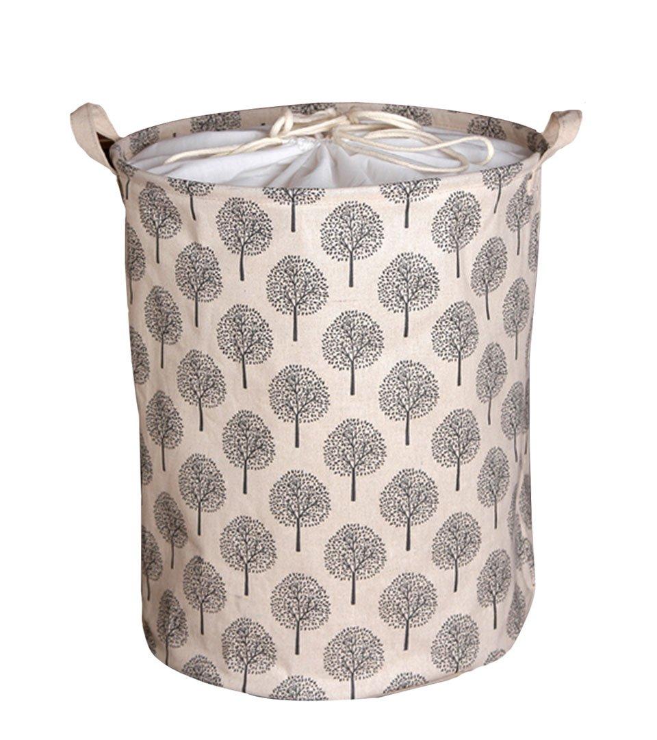 AiSi - Bolsa de almacenamiento con cordón ajustable para la colada / guardar juguetes, gran capacidad, algodón y lino, resistente al agua y al polvo algodón y lino JJ-snt-00113-02