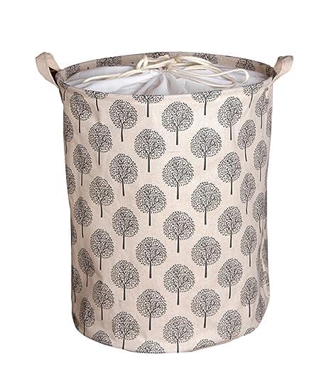 AiSi - Bolsa de almacenamiento con cordón ajustable para la colada / guardar juguetes, gran capacidad, algodón y lino, resistente al agua y al polvo