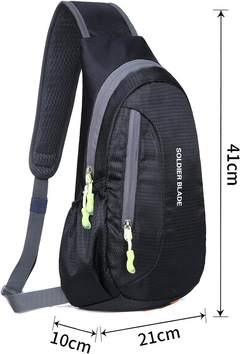 Sac de Poitrine Sac d/épaule Sacs de Sport Bandouli/ère Imperm/éable Sling Bag Poitrine Sacoche Homme pour Camping Randonn/ée Cyclisme Trekking Voyage