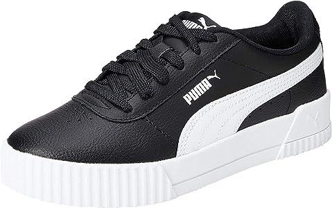 PUMA Women's Carina L Sneakers, Black Black White White 16 ...
