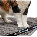 Gorilla Grip Ultimate Cat Litter Mat, Cleaner Floors, Less Waste, Soft on Kitty Paws, Easy Clean Trapper, Large Size Liner Tr