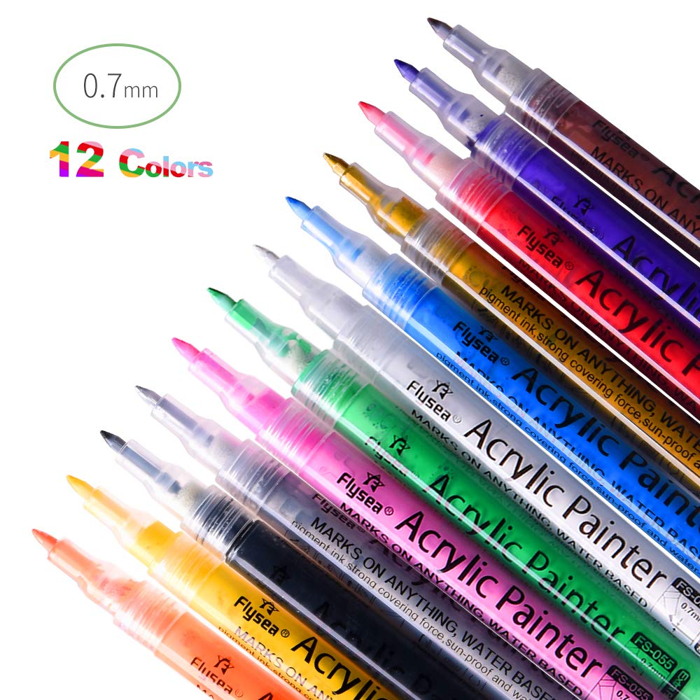 Acrylic Paint markers. 12 colors