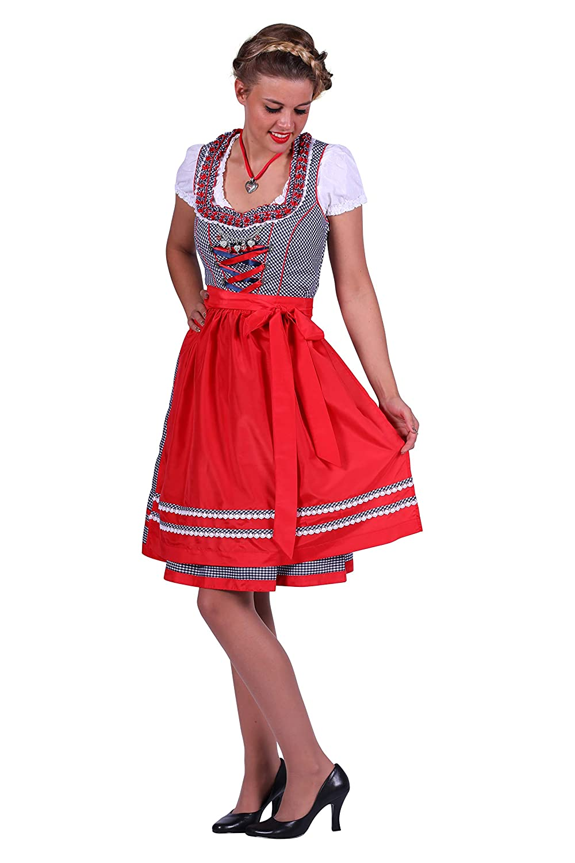 Jannes 2670 Dirndl-Kleid Lena Größe 48 Blau/Rot