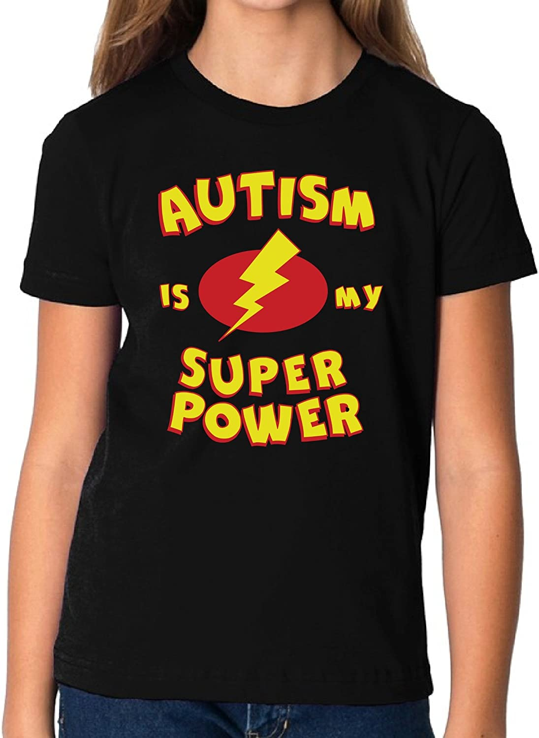 Autism Is My Super Power T-Shirt Awareness Ideas Youth/'s Adult /& Kids Tee Top