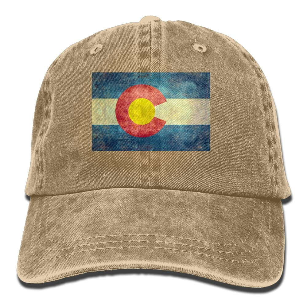 Trableade Colorado-State-Flag To-Tag Adult Sport Adjustable Structured Baseball Cowboy Hat