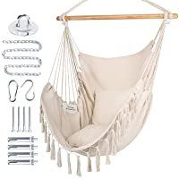 Deals on WBHome Extra Large Hammock Chair Swing with Hardware Kit