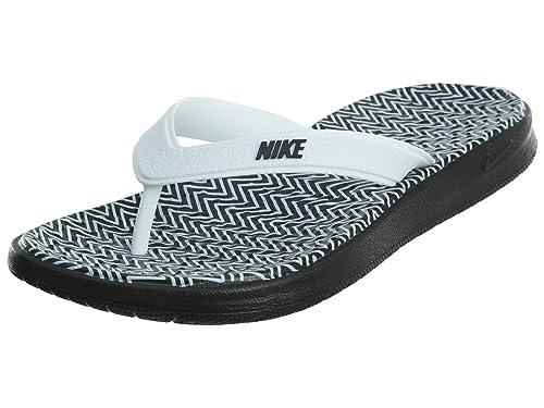 c56b02c02 Nike Womens SOLAY Thong Print, Black/Black-White, 5: Amazon.ca ...