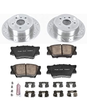 Power Stop K6520 Rear Z23 Evolution Brake Kit with Drilled/Slotted Rotors and Ceramic Brake