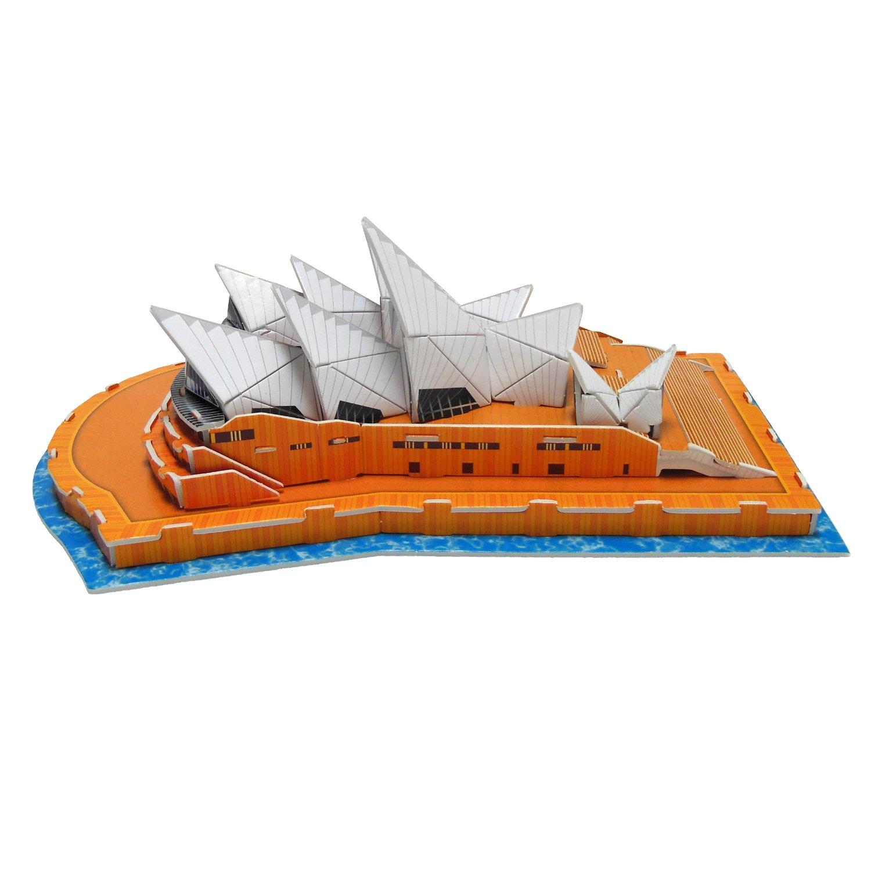 Ltd. 47 Pcs Shantou Calebou Puzzle Toys Industrial Co Creative 3D Puzzle Paper Model Sydney Opera House DIY Fun /& Educational Toys World Great Architecture Series