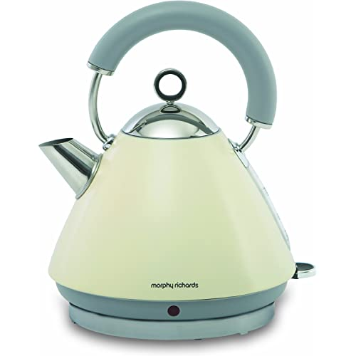 Morphy Richards Cream Accents Pyramid Kettle, 1.5 Litre