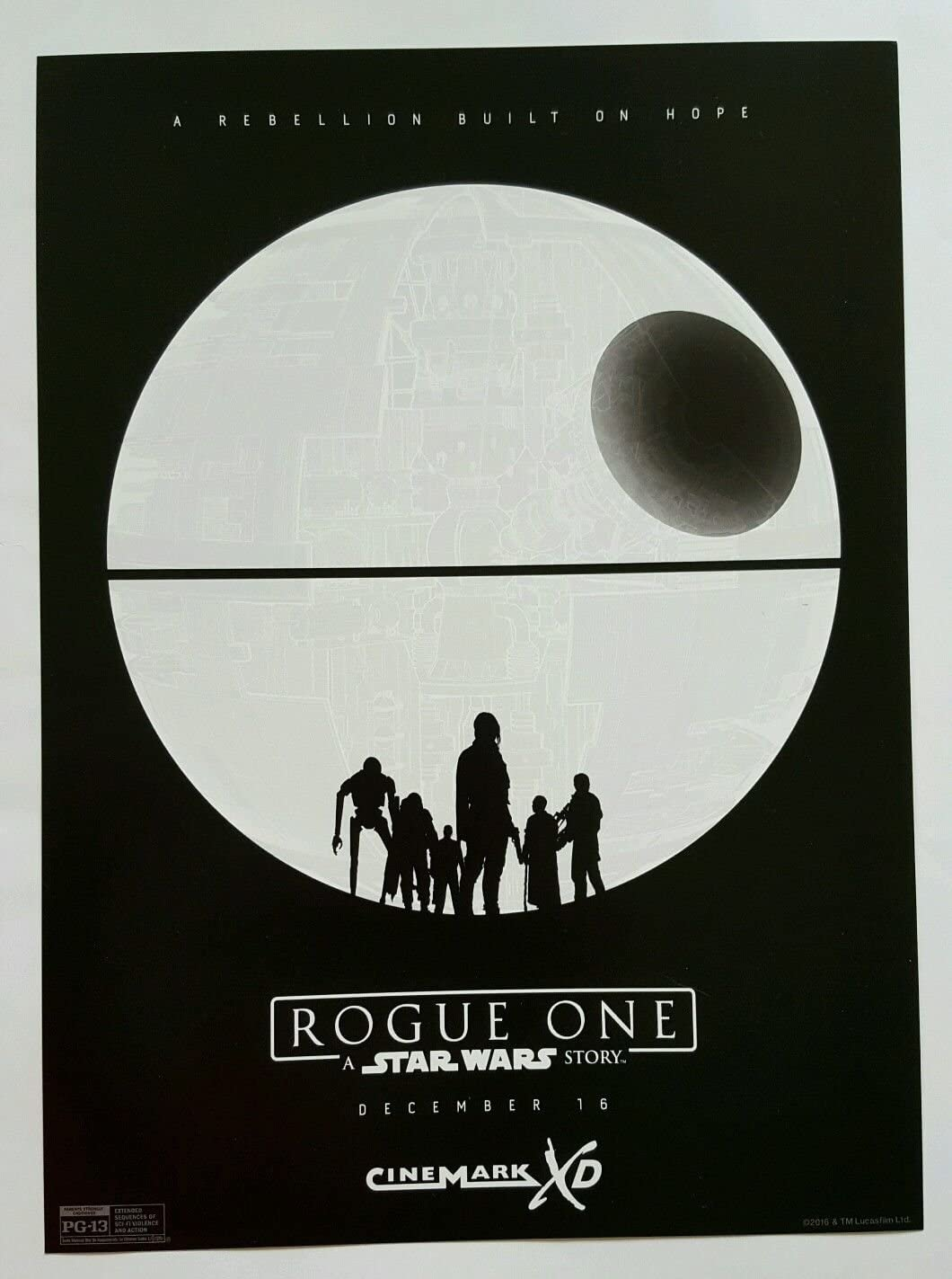 New Art Print 2016 Promo Poster for Rogue One A Star Wars Story