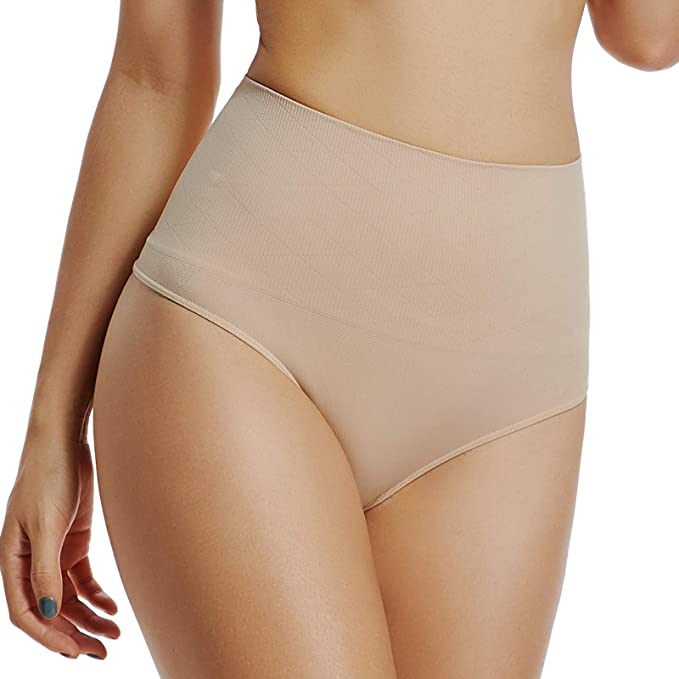 ORMAY Womens Seamless Tummy Control Panties High-Waist Butt Lifter Shapewear