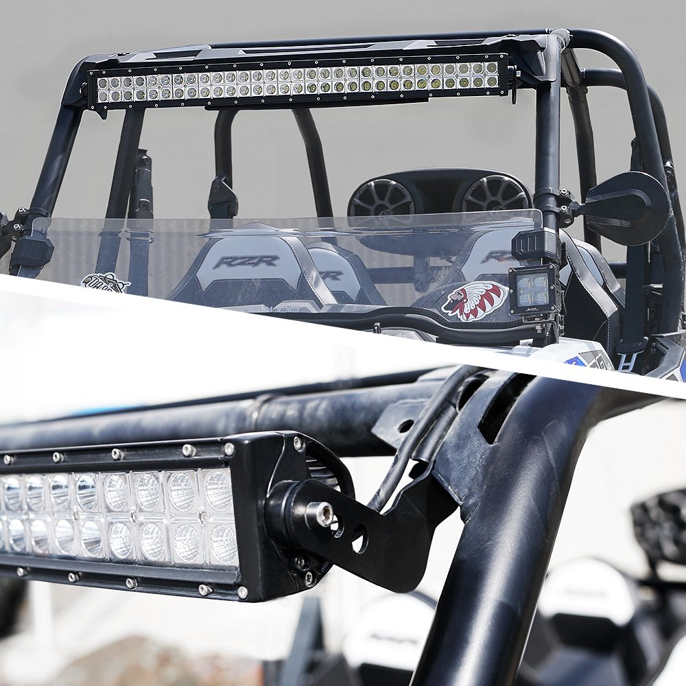 Xprite 30-32 Upper LED Light Bar Mount Brackets for UTV 2013-2018 Polaris RZR XP1000 /& 2015-2018 RZR 900 S900 S1000 EPS Models with Stock Roll Cage only