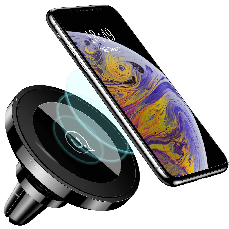 Cargador Inalámbrico Coche,USAMS 10W Adaptador Cargadores Inalambricos Soporte Móvil Rejilla de Ventilación para iPhone XS MAX XR X/8/8 Plus,Samsung ...