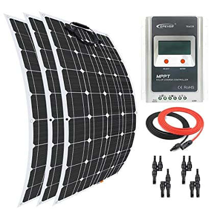 Amazon com : Giosolar Solar Panel 300 Watt 12 Volt Flexible