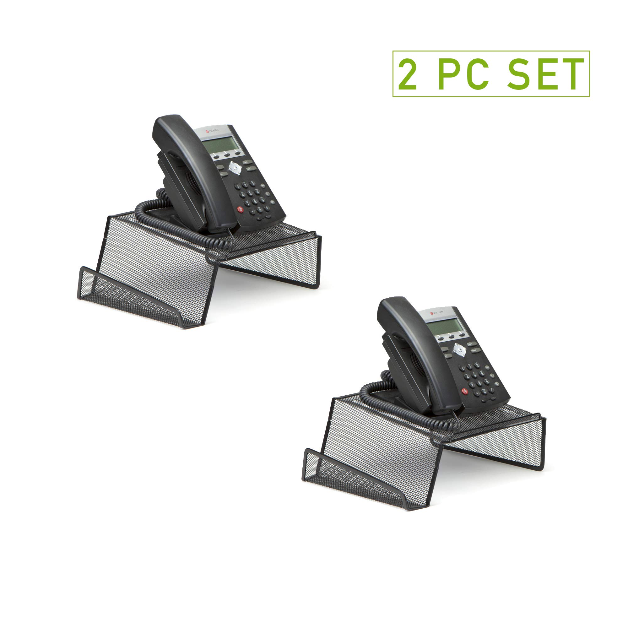 Mind Reader Metal Desktop Phone Stand, 2 Pack, Black by Mind Reader